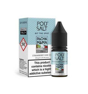 Strawberry Kiwi Ice by Pod Salt 10ml 20mg (Pack of 5)