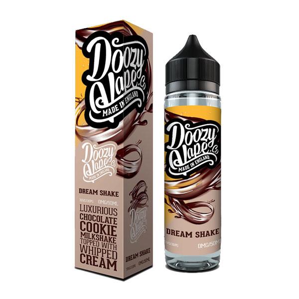 Dream Shake an Award Winning! Best chocolate flavour e-liquid for our luxurious chocolate cookie milkshake.
