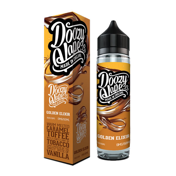 Golden ElixirA smooth tobacco flavoured e-liquid perfectly combined with caramel toffee and a hint of vanilla.