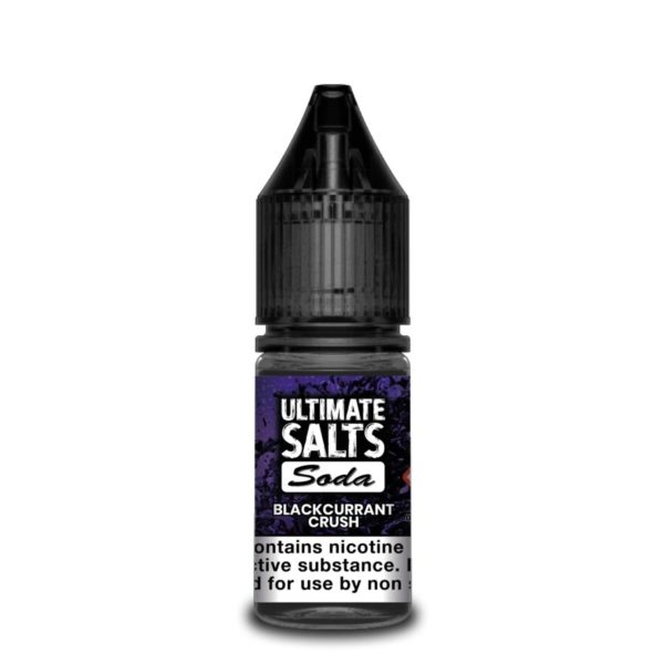 Blackcurrant Crush by Ultimate Salts Soda (Pack Of 10)
