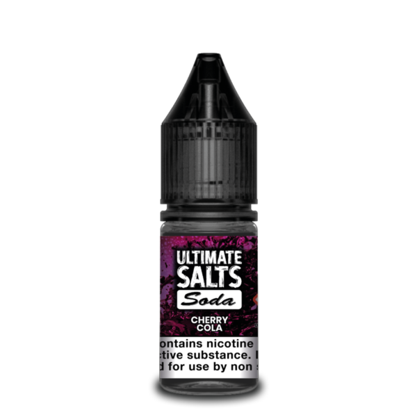 Cherry Cola by Ultimate Salts Soda (Pack Of 10)