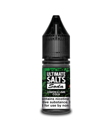 Lemon & Lime Cola by Ultimate Salts Soda (Pack Of 10)