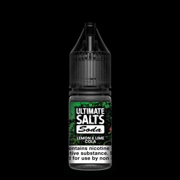 Lemon & Lime Cola by Ultimate Salts Soda (Pack Of 10)