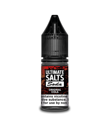 Original Cola by Ultimate Salts Soda (Pack Of 10)